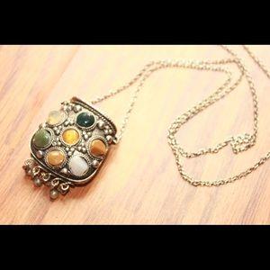Vintage pouch pendant